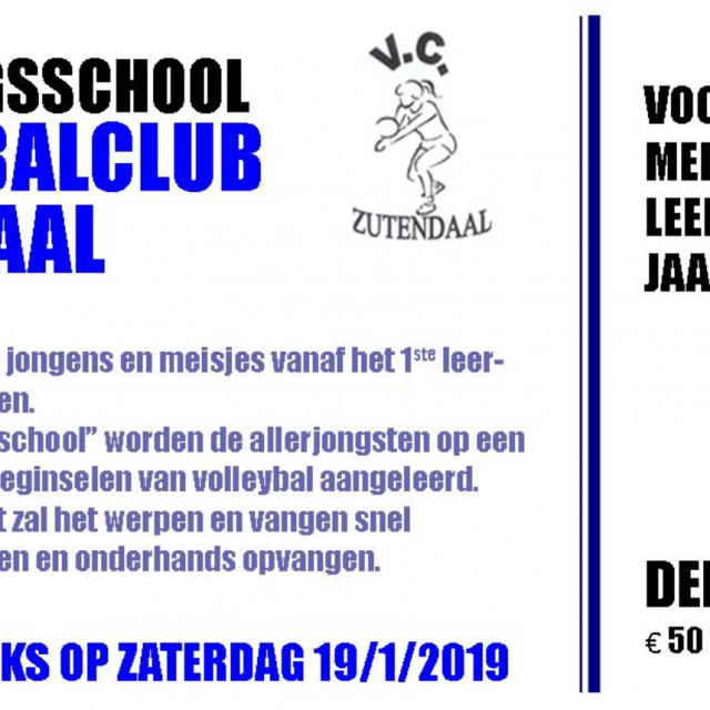 Bewegingsschool Volleybalclub Zutendaal (2e reeks)